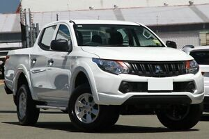 2016 Mitsubishi Triton MQ MY16 GLX+ Double Cab White 6 Speed Manual Utility Springwood Logan Area Preview