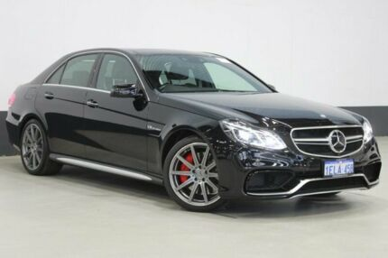 2014 Mercedes-Benz E63 212 MY14 AMG S Obsidian Black 7 Speed Automatic Sedan Bentley Canning Area Preview