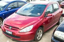 2003 Peugeot 307 T5 MY03 XS Red 5 SPEED Manual Hatchback Melbourne CBD Melbourne City Preview