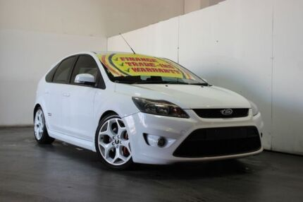 2009 Ford Focus LV XR5 Turbo White 6 Speed Manual Hatchback Underwood Logan Area Preview