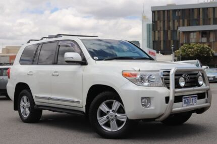 2012 Toyota Landcruiser VDJ200R MY12 Sahara (4x4) Crystal Pearl 6 Speed Automatic Wagon Northbridge Perth City Area Preview