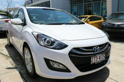2014 Hyundai i30 GD2 MY14 Trophy Creamy White 6 Speed Sports Automatic Hatchback Mount Gravatt Brisbane South East Preview