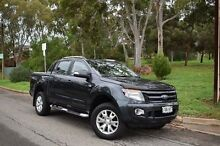 2013 Ford Ranger PX Wildtrak Double Cab Grey 6 Speed Sports Automatic Utility St Marys Mitcham Area Preview