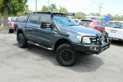 2014 Ford Ranger PX XLT Double Cab Grey 6 Speed Sports Automatic Utility Tingalpa Brisbane South East Preview