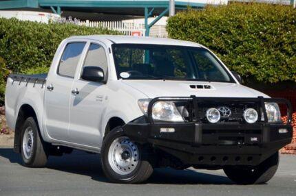 2011 Toyota Hilux KUN16R MY10 SR Glacier White 5 Speed Manual Utility Acacia Ridge Brisbane South West Preview
