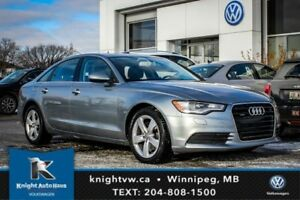 2013 Audi A6 Quattro w/ Leather/Sunroof/Backup Cam
