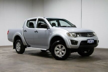 2013 Mitsubishi Triton MN MY14 GLX Club Cab Silver 5 Speed Manual Utility Welshpool Canning Area Preview