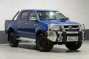 2008 Toyota Hilux KUN26R 08 Upgrade SR5 (4x4) Blue 4 Speed Automatic Dual Cab Pick-up Bentley Canning Area Preview