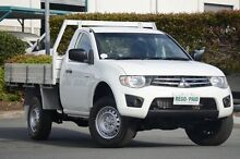 2011 Mitsubishi Triton MN MY12 GLX White 4 Speed Automatic Cab Chassis Acacia Ridge Brisbane South West Preview