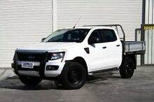 2013 Ford Ranger PX XL Double Cab White 6 Speed Sports Automatic Cab Chassis Frankston Frankston Area Preview