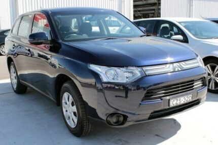 2012 Mitsubishi Outlander ZJ ES (4x4) Blue Continuous Variable Wagon Maryville Newcastle Area Preview
