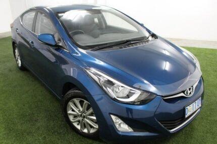 2014 Hyundai Elantra MD3 Trophy Blue 6 Speed Manual Sedan Moonah Glenorchy Area Preview