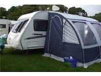 Small caravan awning