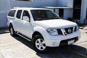 2011 Nissan Navara White Automatic Utility Bentleigh Glen Eira Area Preview
