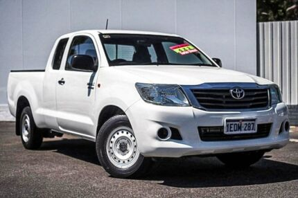 2014 Toyota Hilux GGN15R MY14 SR Xtra Cab 4x2 White 5 Speed Automatic Utility Maddington Gosnells Area Preview