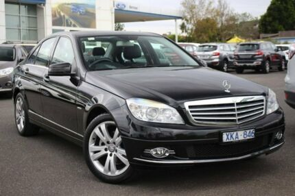 2009 Mercedes-Benz C300 W204 Avantgarde 7G-Tronic Black 7 Speed Sports Automatic Sedan