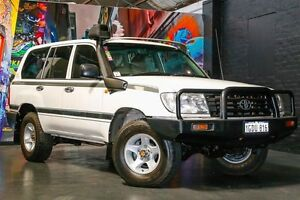 2006 Toyota Landcruiser HZJ105R Standard White 5 Speed Manual Wagon Northbridge Perth City Area Preview