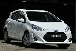 2015 Toyota Prius c NHP10R MY15 Hybrid White 1 Speed Continuous Variable Hatchback Mosman Mosman Area Preview