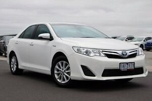 2013 Toyota Camry AVV50R Hybrid H White 1 Speed Constant Variable Sedan Nunawading Whitehorse Area Preview
