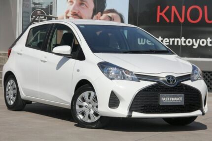 2016 Toyota Yaris NCP130R Ascent Glacier White 4 Speed Automatic Hatchback