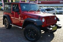 2008 Jeep Wrangler JK MY08 Rubicon (4x4) Red 6 Speed Manual Softtop Campbelltown Campbelltown Area Preview