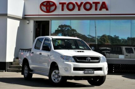 2011 Toyota Hilux KUN26R MY11 Upgrade SR (4x4) White 5 Speed Manual Dual Cab Pick-up Old Guildford Fairfield Area Preview