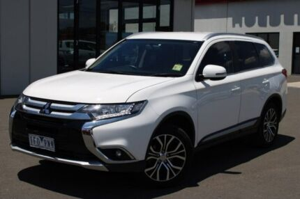 2015 Mitsubishi Outlander ZK MY16 LS 4WD White 6 Speed Constant Variable Wagon Run-o-waters Goulburn City Preview
