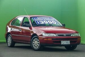 1999 Toyota Corolla AE112R Conquest Seca Red 4 Speed Automatic Liftback Ringwood East Maroondah Area Preview