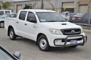 2010 Toyota Hilux KUN16R MY10 SR 4x2 White 5 Speed Manual Utility Wangara Wanneroo Area Preview