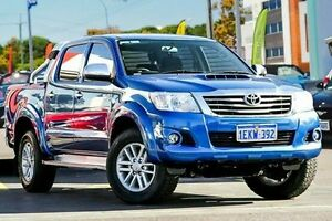 2014 Toyota Hilux KUN26R MY14 SR5 Double Cab Blue 5 Speed Manual Utility Myaree Melville Area Preview