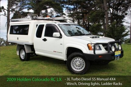 2009 Holden Colorado RC MY09 LX (4x4) Cool White 5 Speed Manual Officer Cardinia Area Preview