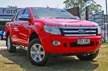 2013 Ford Ranger PX XLT Hi-Rider True Red Manual Utility Capalaba West Brisbane South East Preview