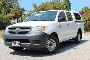 2008 Toyota Hilux TGN16R MY08 Workmate White 5 Speed Manual Utility Hawthorn Mitcham Area Preview