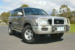 2002 Toyota Landcruiser HDJ100R GXL Grey 4 Speed Automatic Wagon Derwent Park Glenorchy Area Preview