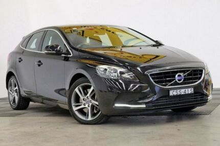2014 Volvo V40 M Series MY14 T4 Adap Geartronic Kinetic Black 6 Speed Sports Automatic Hatchback
