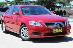 2011 Toyota Aurion GSV40R 09 Upgrade AT-X Burgundy 6 Speed Sequential Auto Sedan Lansvale Liverpool Area Preview