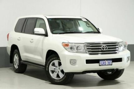 2015 Toyota Landcruiser VDJ200R MY13 VX (4x4) Pearl White 6 Speed Automatic Wagon Bentley Canning Area Preview