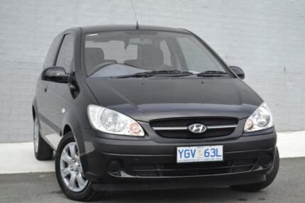 2008 Hyundai Getz TB MY07 S Black 5 Speed Manual Hatchback Pearce Woden Valley Preview