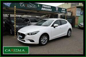 2018 Mazda 3 BN MY18 Maxx Sport White 6 Speed Manual Hatchback Seven Hills Blacktown Area Preview