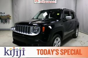 2017 Jeep Renegade 4WD LIMITED Navigation (GPS),  Leather,  Heat