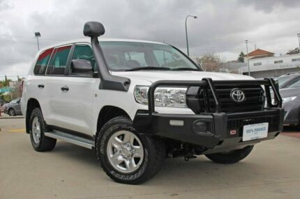 2016 Toyota Landcruiser VDJ200R MY16 GX (4x4) White 6 Speed Automatic Wagon Victoria Park Victoria Park Area Preview