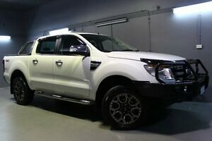 2014 Ford Ranger PX XLT Double Cab White 6 Speed Sports Automatic Utility Invermay Launceston Area Preview