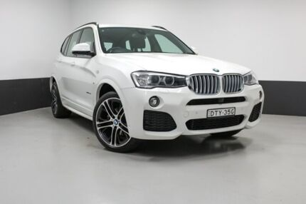 2017 BMW X3 F25 LCI xDrive30d Steptronic White 8 Speed Sports Automatic Wagon