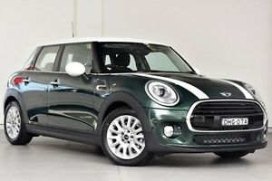 2016 Mini Hatch F55 Cooper British Racing Green 6 Speed Automatic Hatchback Alexandria Inner Sydney Preview