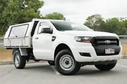 2015 Ford Ranger PX MkII XL 4x2 Hi-Rider White 6 Speed Manual Cab Chassis Springwood Logan Area Preview