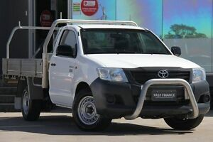 2012 Toyota Hilux TGN16R MY12 Workmate White 4 Speed Automatic Cab Chassis Old Guildford Fairfield Area Preview
