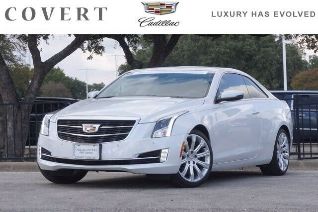 2017 Cadillac ATS Coupe Luxury RWD 29816 Miles Crystal White Tricoat 2dr Car Tur