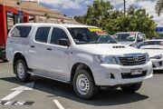 2014 Toyota Hilux KUN26R MY14 SR Double Cab Glacier White 5 Speed Automatic Utility Noosaville Noosa Area Preview