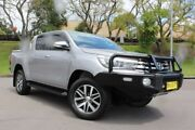 2016 Toyota Hilux GUN126R SR5 Double Cab Silver 6 Speed Sports Automatic Utility East Maitland Maitland Area Preview
