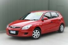 2010 Hyundai i30 FD MY10 SX Red 4 Speed Automatic Hatchback Berwick Casey Area Preview
